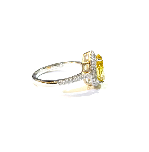 Adriene Pear CZ Citrine Ring