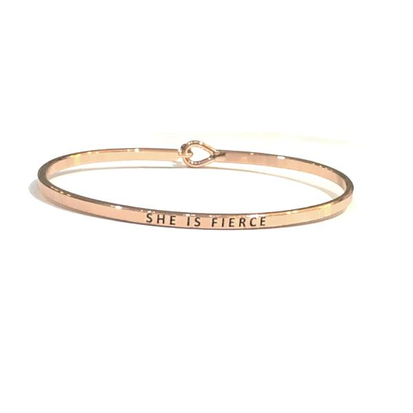 Mantra Bangle 'She is Fierce'