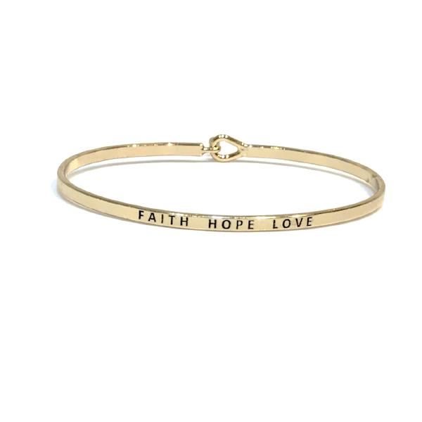 Mantra Bangle 'Faith Hope Love'