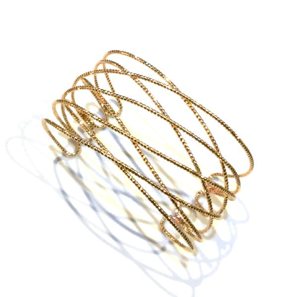 Noelia Diamond Cut Cuff