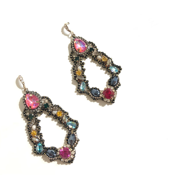 Vera Rainbow Statement Earrings