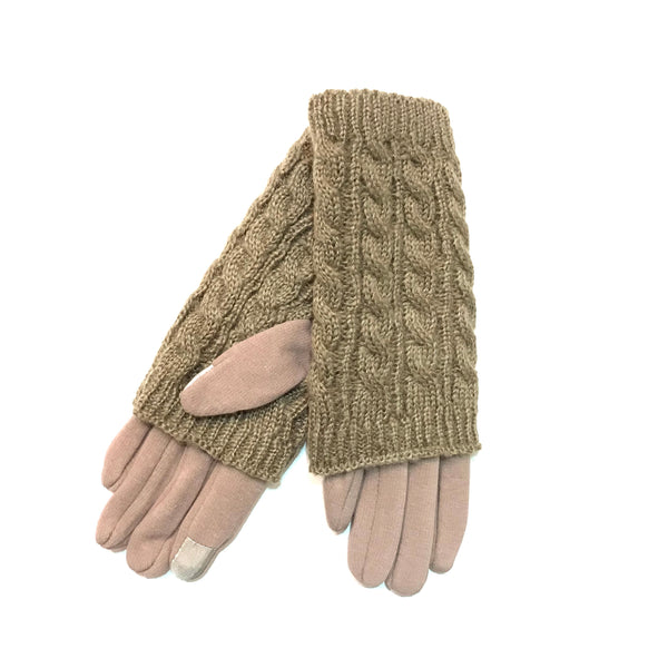 Solid Sweater Knit Gloves