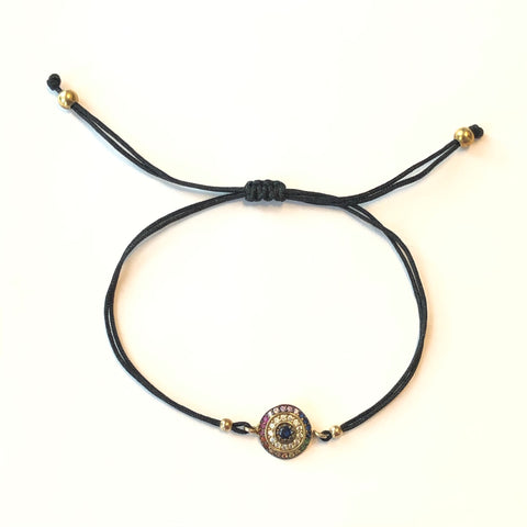 Evil Eye Rainbow Thread Bracelet