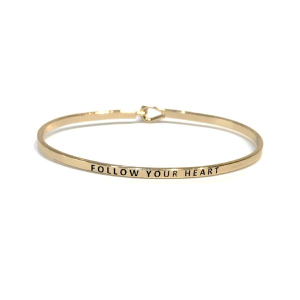 Mantra Bangle 'Follow Your Heart'