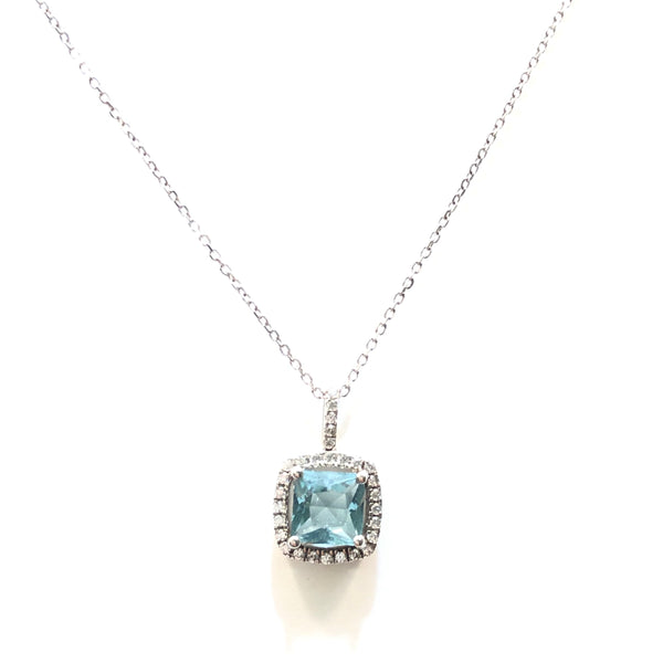 Adriene Birthstone Square CZ Necklace