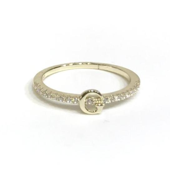 Initial Sparkle GOLD Ring