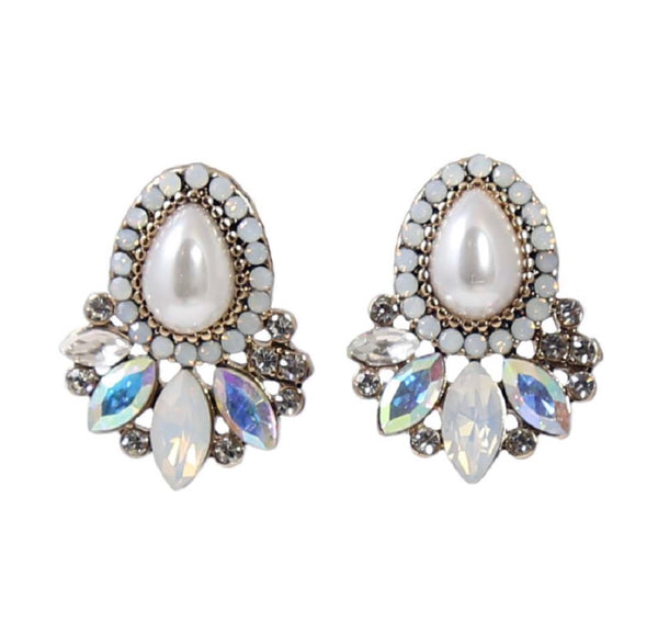 Lily Teardrop Cluster Studs