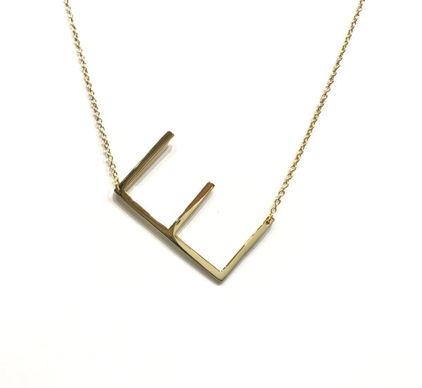 Initial Large Necklace
