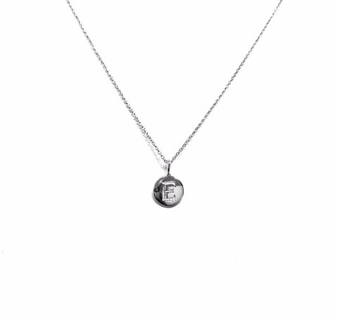 Initial Round Pendant Necklace
