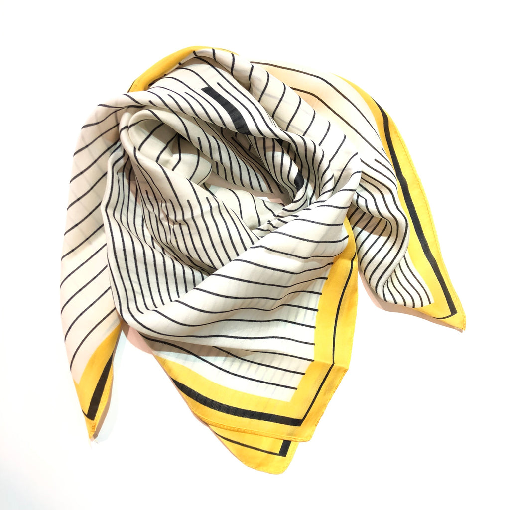 Veronica Yellow Striped Scarf