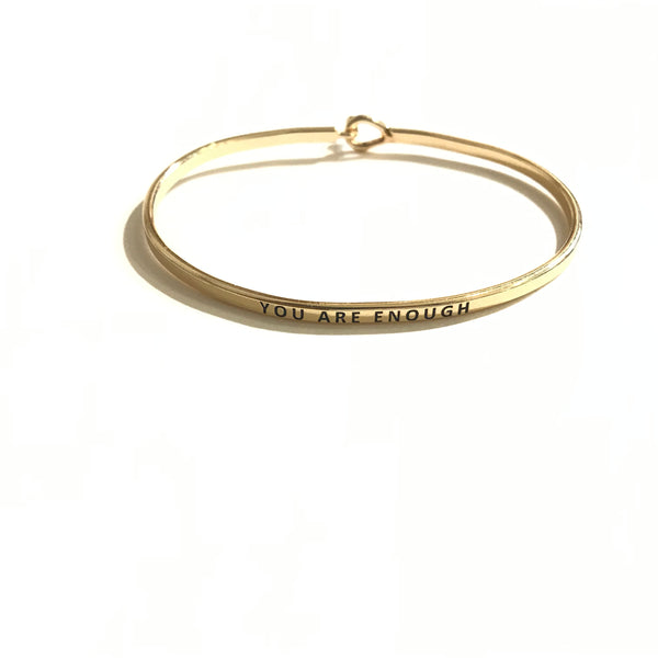 Mantra Bangle 'You Are Enough'