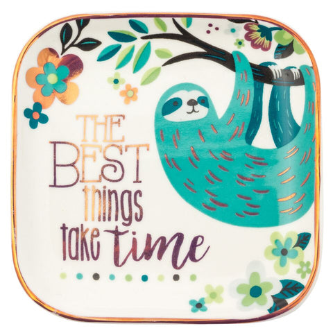 Jewelry Dish- Best Things Take Time