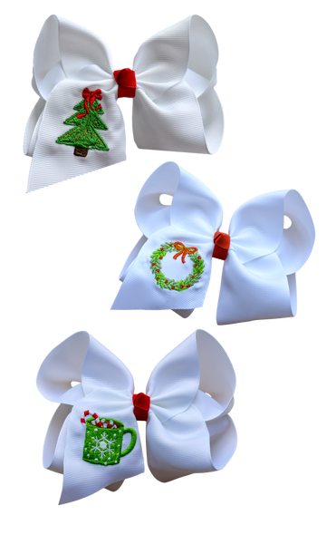 Christmas Trio Embroidered Set
