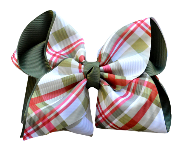Nostalgic Christmas Plaid Layered Bow