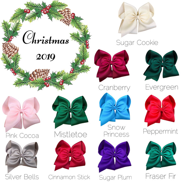 Christmas 2019 Hair Bow Set With Free Sugar Plum Bow
