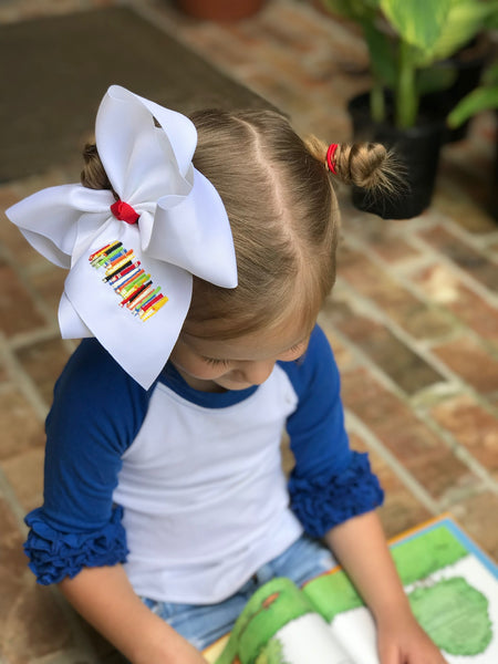 Story time Embroidered Bow