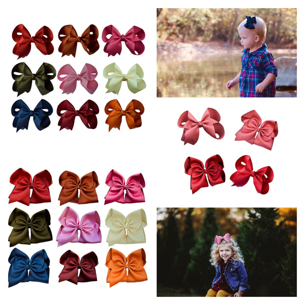 Fall Hair Bow Set With Free Apple Cider Bow