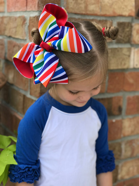 Primary Striped Layered Bow