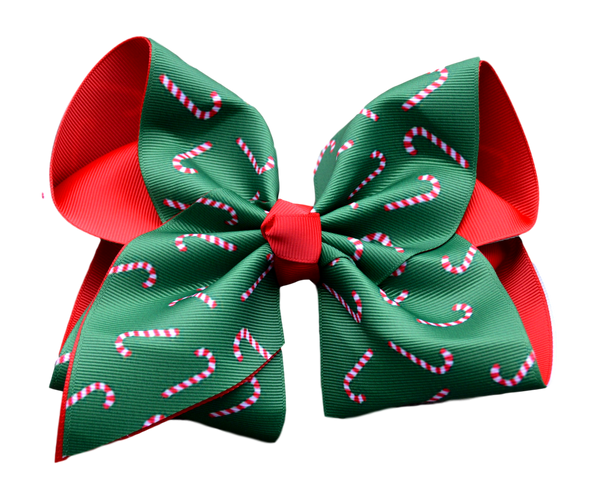 Candy Cane Layered Bow