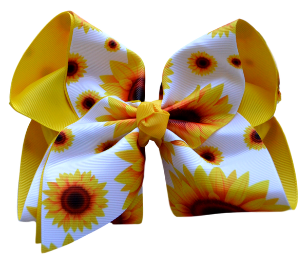 Sunflower Layered Bow