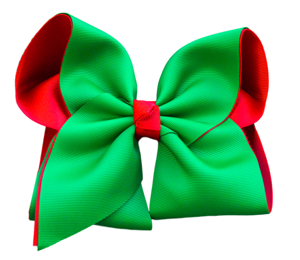 Green and Red Layered Bow