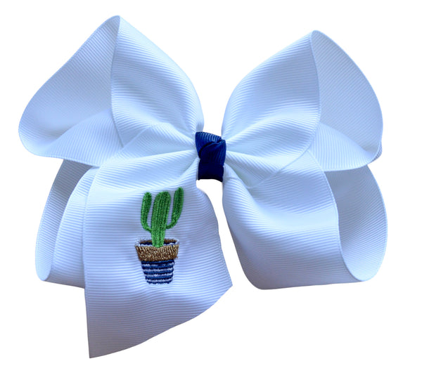 Tumbleweed Cactus Embroidered Bow