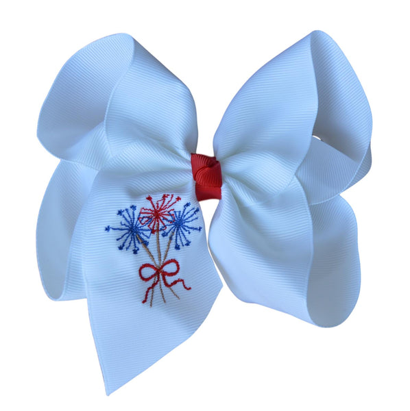 Sparkler Embroidered Bow