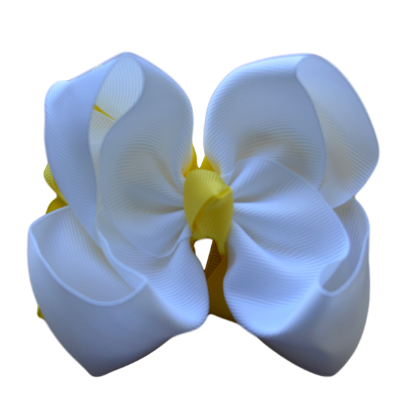 White and Yellow Stacked Bow