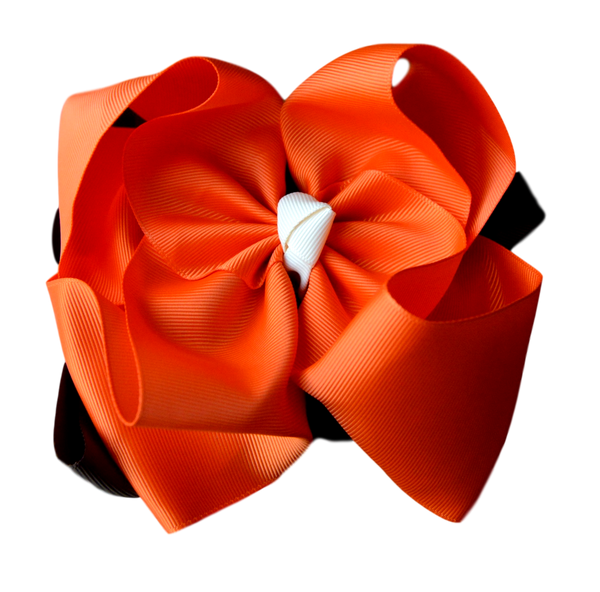 Pumpkin Pie Double Stacked Bow