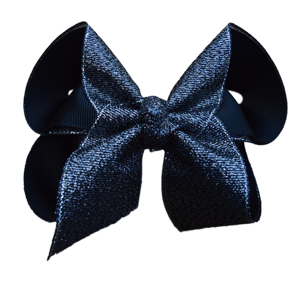 Midnight Glitter Bow