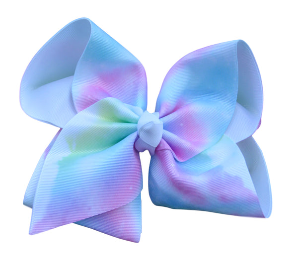 Tie-Dye Cloud Layered Bow