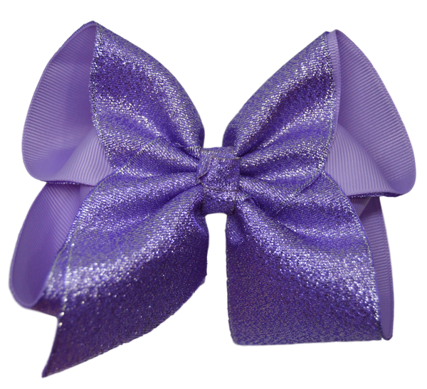 Lilac Glitter Bow