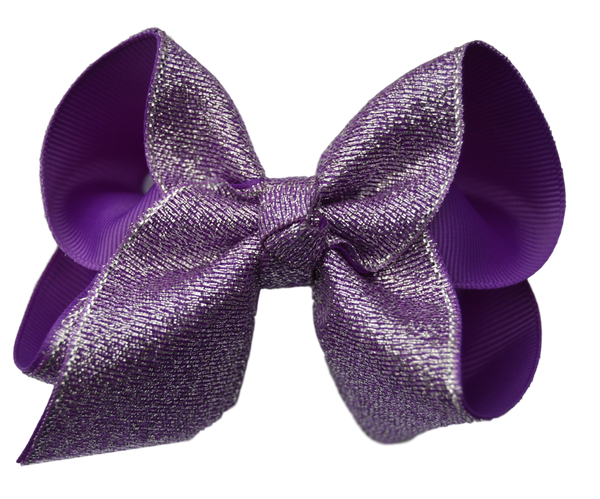 Purple Glitter Bow