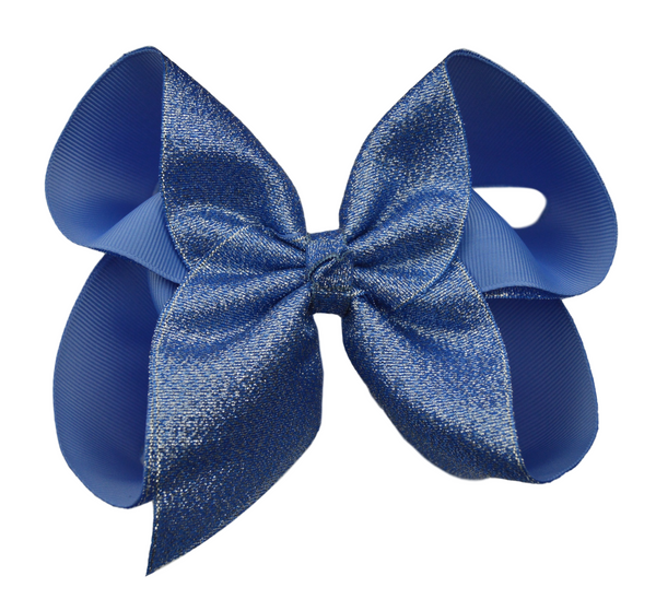 Denim Glitter Bow