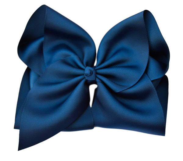 Colonial Blue Hair Bow