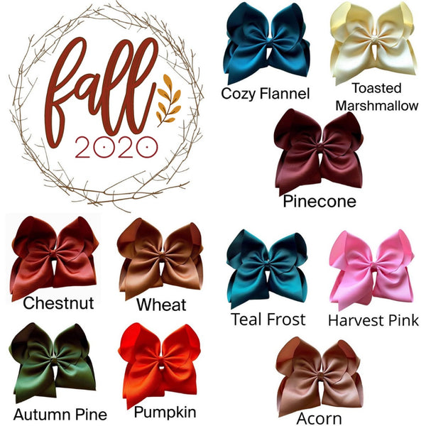2020 Fall Hair Bow Set With Free Acorn Bow