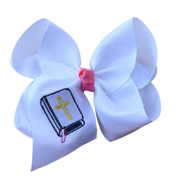 Bible Embroidered Bow