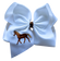 Horse Embroidered Bow