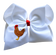 Chicken Embroidered Bow