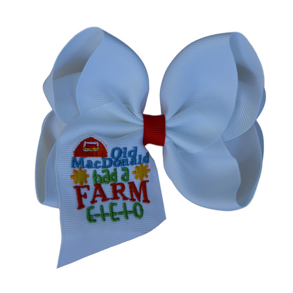 Old MacDonald had a Farm Boutique Bow