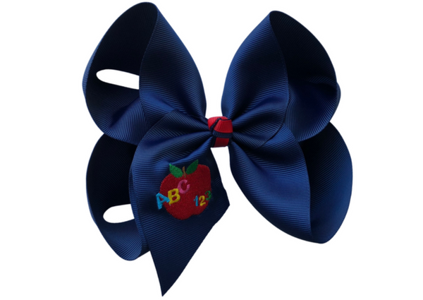ABC/123 Embroidered Bow