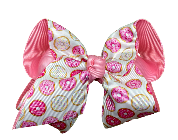 Pink Sprinkle Donut Layered Bow