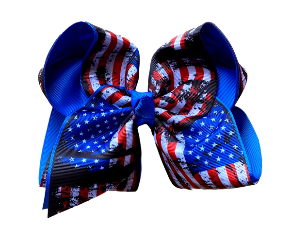 Land of the Free Because of the Brave Layered Bow