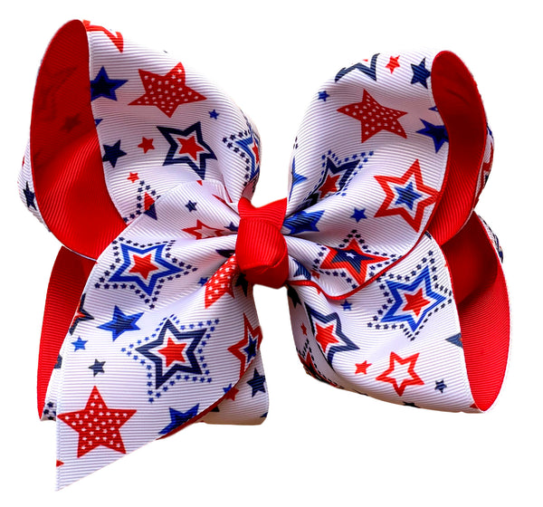 Sweet Land of Liberty Layered Bow