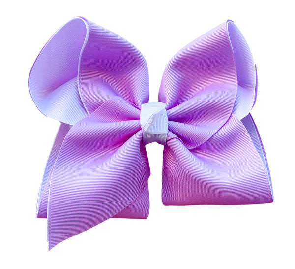 Lavender and White Layered Bow