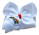 Somewhere Over the Rainbow Embroidered Bow