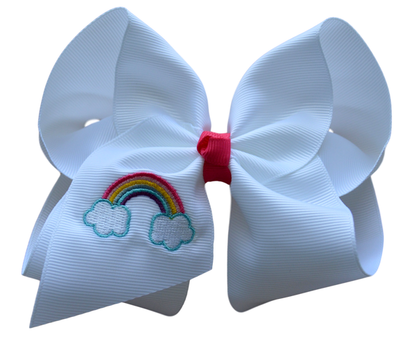 Rainbow Bliss Embroidered Bow