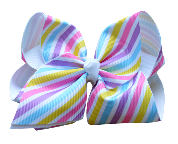 Spring Stripe Layered Bow