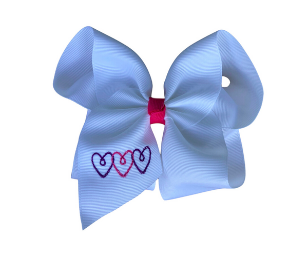 My Forever Valentine Embroidered Bow