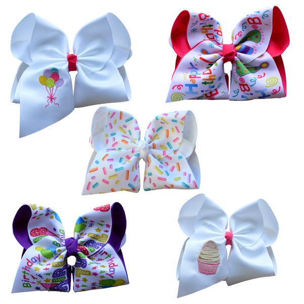 Birthday Girl Bow Set